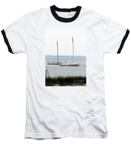 Baseball T-Shirt featuring the photograph Sailboats In Battery Park Harbor by David Jackson