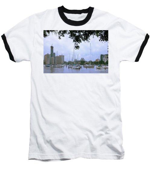 Sailboats In Brisbane Australia Baseball T-Shirt