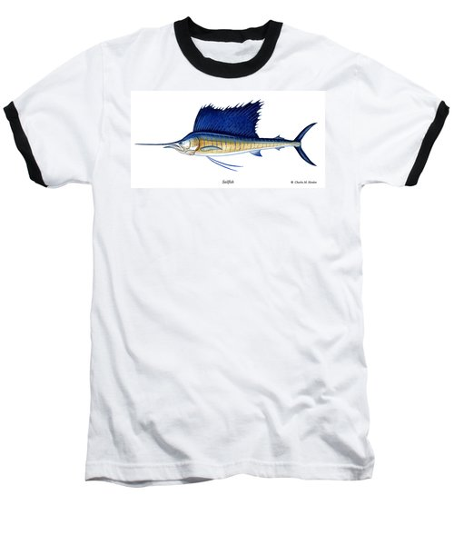 Sailfish Baseball T-Shirt by Charles Harden