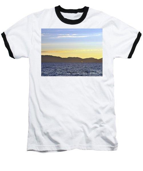 Sailing At Sunset - Lake Tahoe Baseball T-Shirt