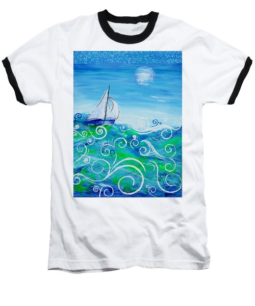 Sailing By Jan Marvin Baseball T-Shirt