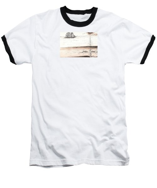 Sailing Into The Past Baseball T-Shirt