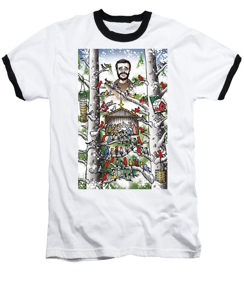 St. Francis And The Birds Baseball T-Shirt