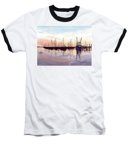Saint Marys Marina   Shadows Light And Fire Baseball T-Shirt