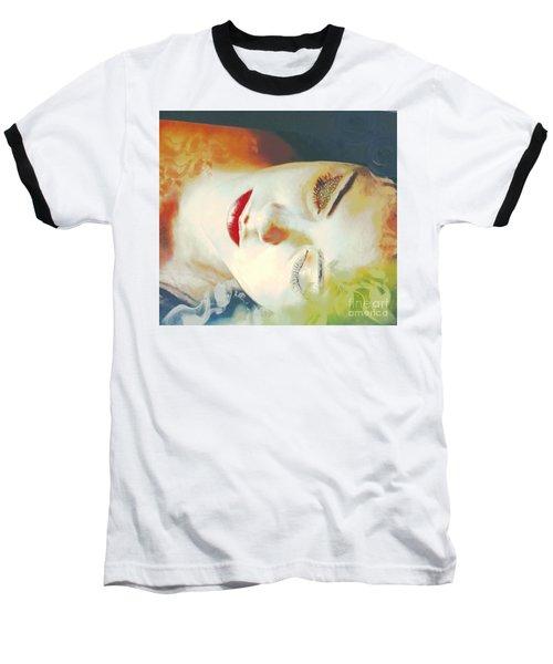Baseball T-Shirt featuring the digital art Sally Sleeps by Kim Prowse