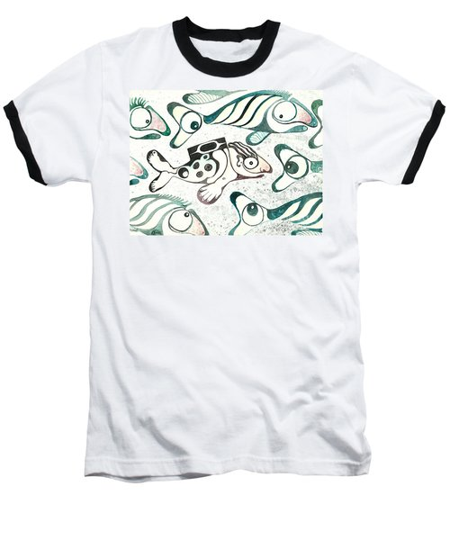 Salmon Boy The Swimmer Baseball T-Shirt