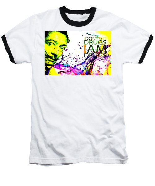 Salvador Dali Pop Art Baseball T-Shirt by Eti Reid