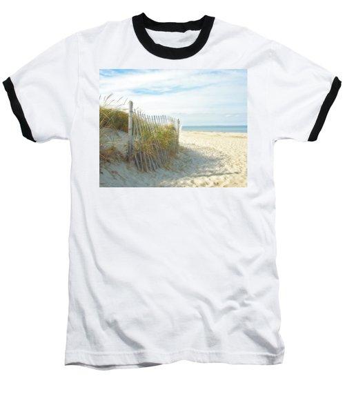 Sand Beach Ocean And Dunes Baseball T-Shirt