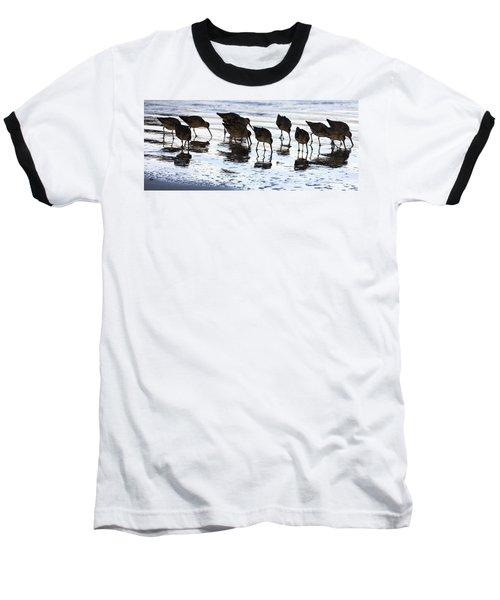Sand Pipers Reflected Baseball T-Shirt