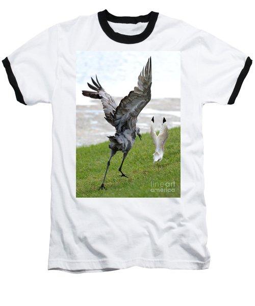 Sandhill Chasing Ibis Baseball T-Shirt