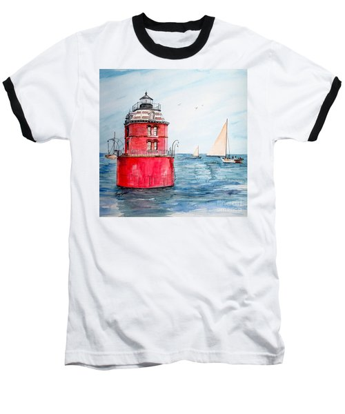 Sandy Point Lighthouse 2 Baseball T-Shirt
