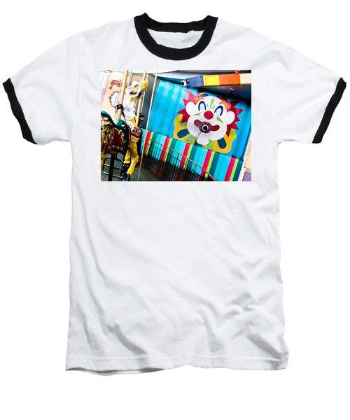 Santa Cruz Boardwalk Carousel Baseball T-Shirt