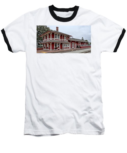 Baseball T-Shirt featuring the photograph Santa Paula Station by Michael Gordon