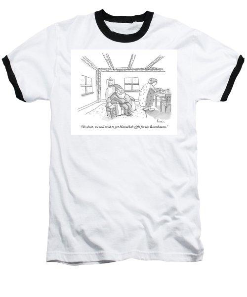 Santa To Wife Baseball T-Shirt