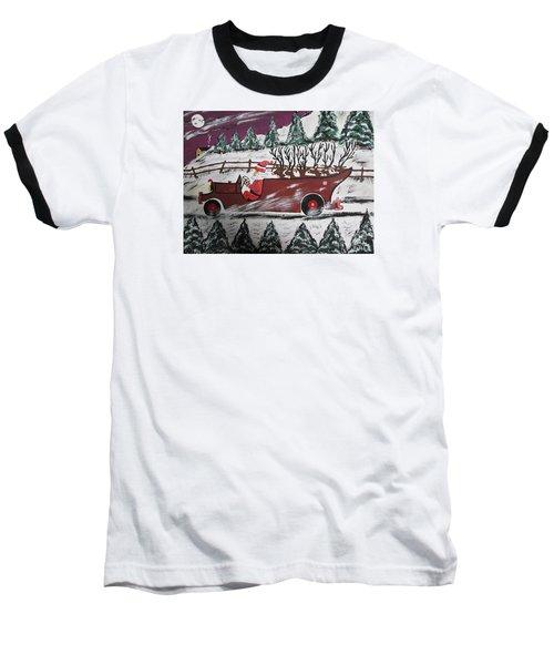 Baseball T-Shirt featuring the painting Santa's Truckload by Jeffrey Koss