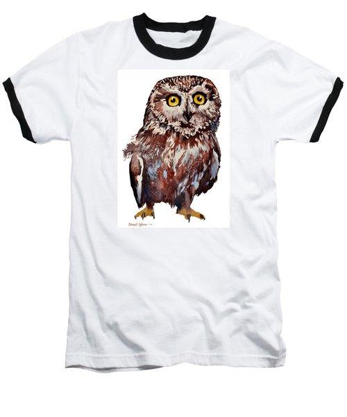 Da148 Saw Whet Owl Daniel Adams Baseball T-Shirt