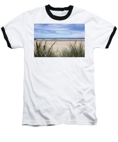 Scenic Oceanview Baseball T-Shirt by Athena Mckinzie
