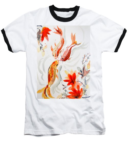 Baseball T-Shirt featuring the painting School by Beverley Harper Tinsley