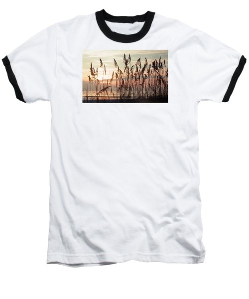 Baseball T-Shirt featuring the photograph Spectacular Sea Oats At Sunrise by Belinda Lee