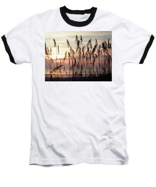 Fabulous Blue Sea Oats Sunrise Baseball T-Shirt by Belinda Lee