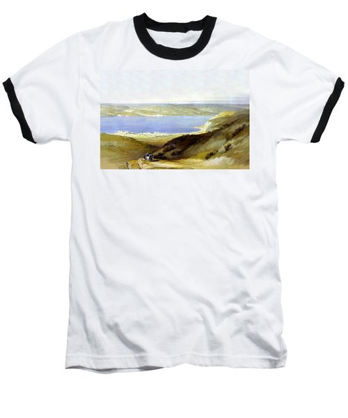 Sea Of Galilee Baseball T-Shirt by Munir Alawi