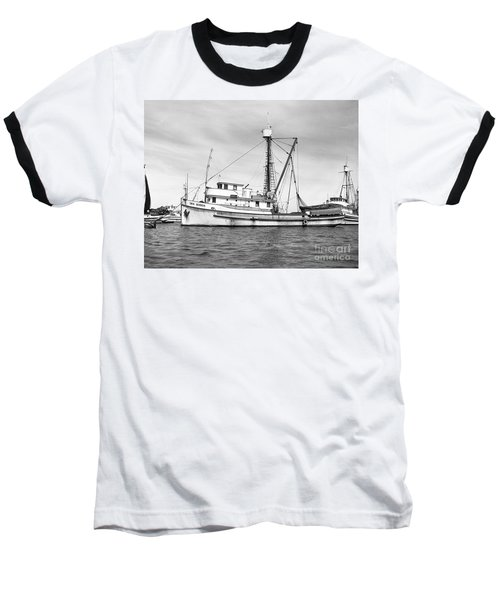 Purse Seiner Sea Queen Monterey Harbor California Fishing Boat Purse Seiner Baseball T-Shirt by California Views Mr Pat Hathaway Archives