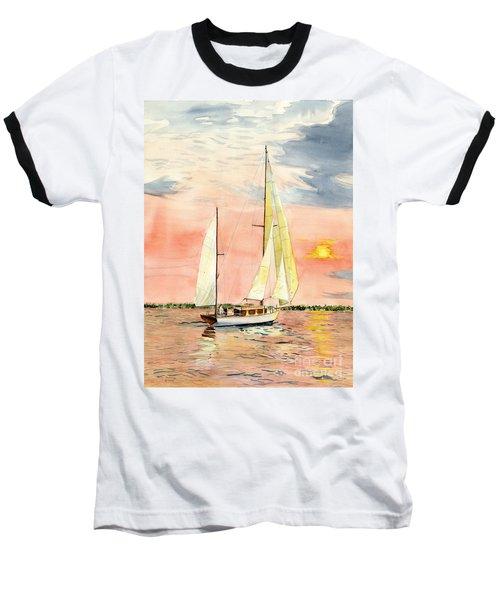 Sea Star Baseball T-Shirt by Melly Terpening