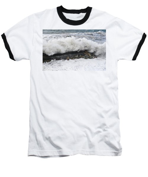 Sea Storm  Baseball T-Shirt by Antonio Scarpi