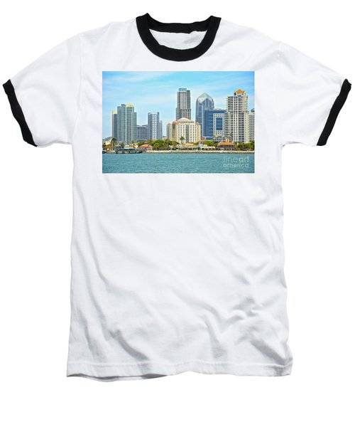 Seaport Village And Downtown San Diego Buildings Baseball T-Shirt