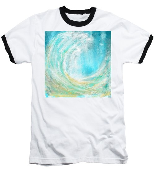 Seascapes Abstract Art - Mesmerized Baseball T-Shirt