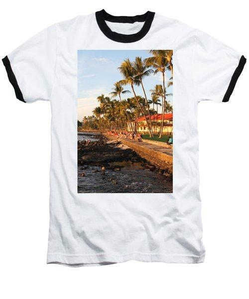Seawall At Sunset Baseball T-Shirt
