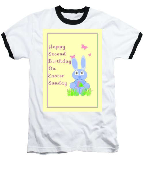 Second Birthday On Easter Baseball T-Shirt by Rosalie Scanlon