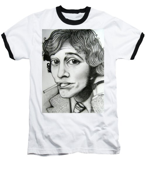 Baseball T-Shirt featuring the drawing Robin Gibb by Patrice Torrillo