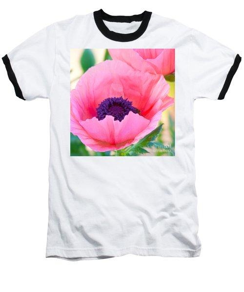Seductive Poppy Baseball T-Shirt by Roselynne Broussard