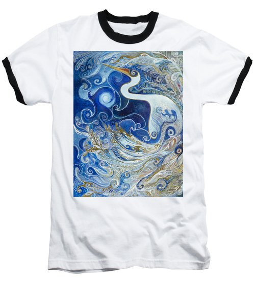 Seeking Balance Baseball T-Shirt by Leela Payne