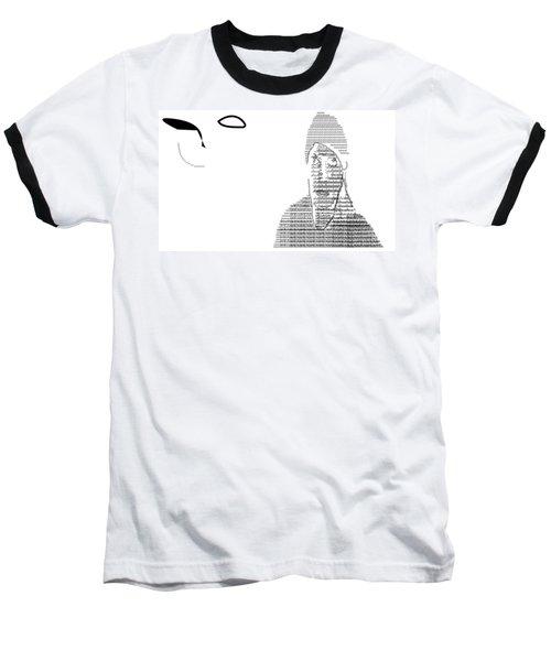 Self Portrait In Text Baseball T-Shirt