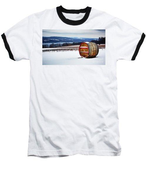 Seneca Lake Winery In Winter Baseball T-Shirt
