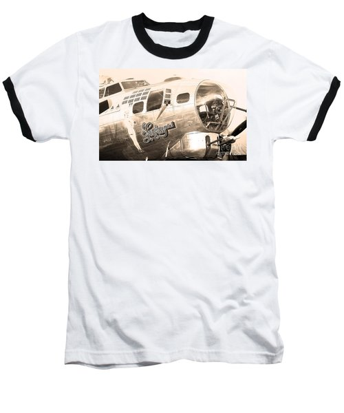 Sentimental Journey Baseball T-Shirt by Steven Reed