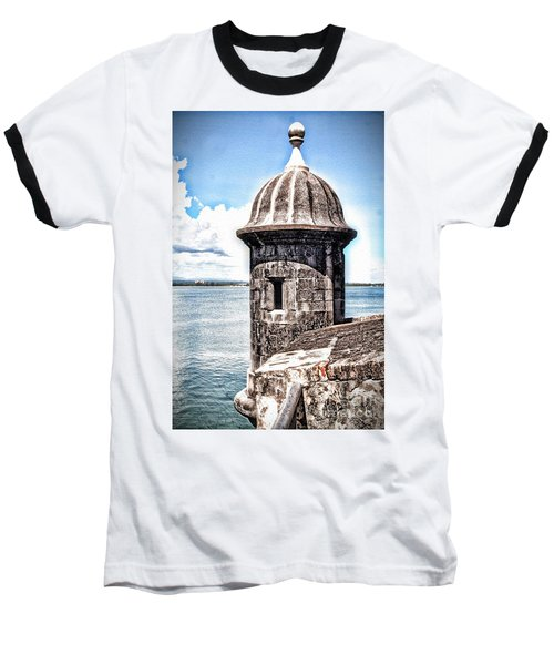 Sentry Box In El Morro Hdr Baseball T-Shirt
