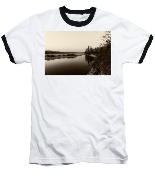 Sepia River Baseball T-Shirt