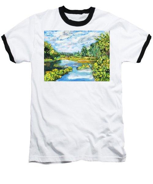 Serene Pond Baseball T-Shirt