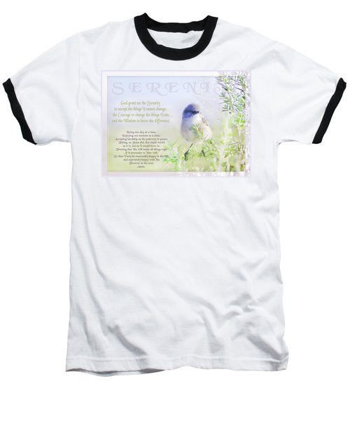 Serenity Prayer Baseball T-Shirt by Holly Kempe