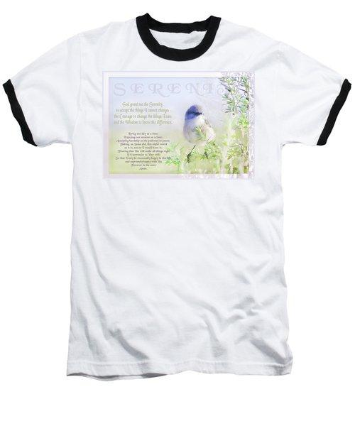 Serenity Prayer Baseball T-Shirt
