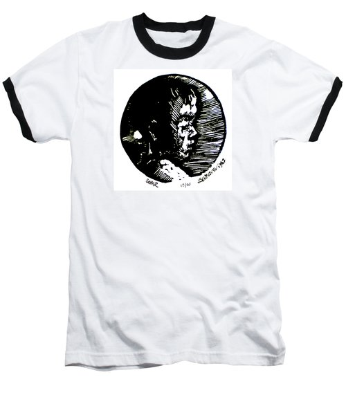 Baseball T-Shirt featuring the relief Seth 2 by Seth Weaver