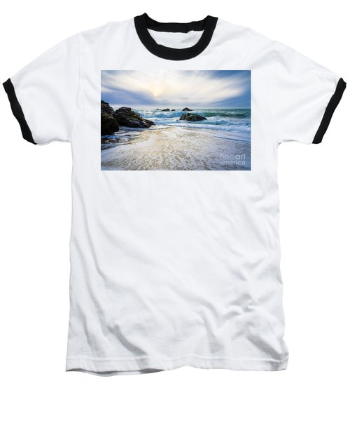 Baseball T-Shirt featuring the photograph Setting Sun And Rising Tide by CML Brown