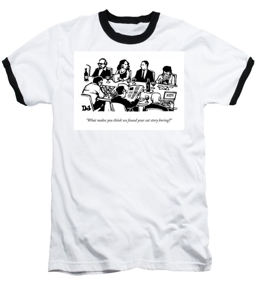 Seven People Are Seen Sitting At A Table Baseball T-Shirt