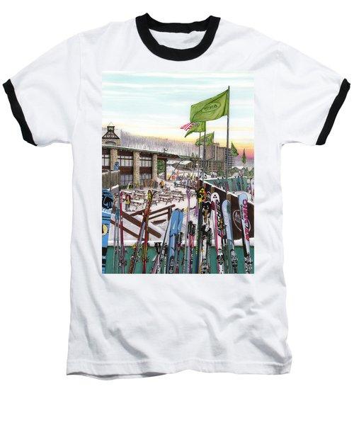 Seven Springs Mountain Resort Baseball T-Shirt by Albert Puskaric