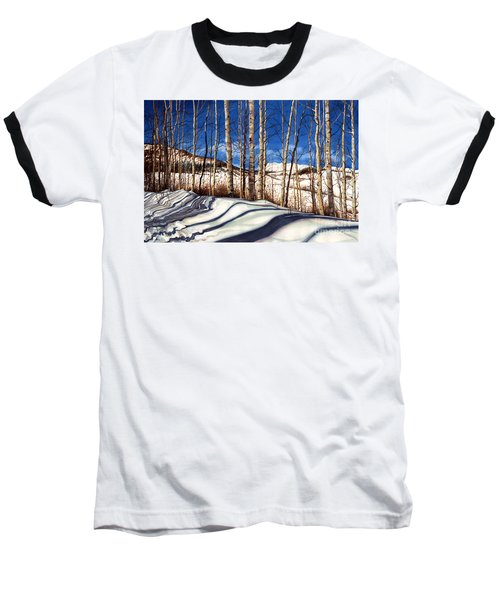 Baseball T-Shirt featuring the painting Shadow Dance by Barbara Jewell