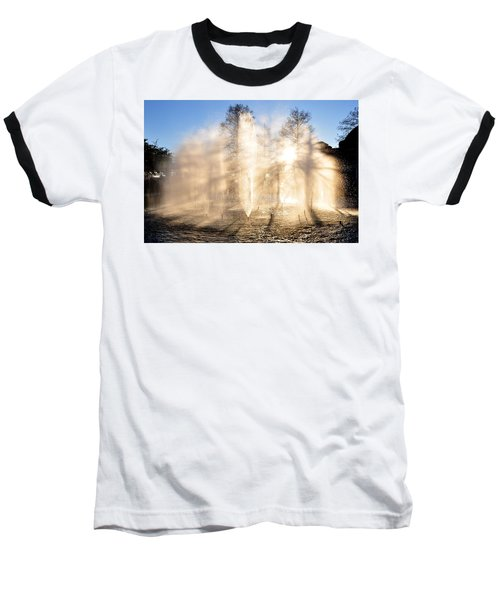 Baseball T-Shirt featuring the photograph Shadow Play by Charlotte Schafer