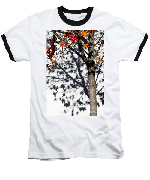 Baseball T-Shirt featuring the photograph Shadows Of Fall by CML Brown